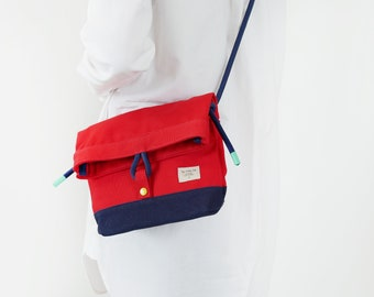 Squid red chili bag : small sling bag, ipad mini bag, mini bag, crossbody bag