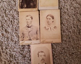 Lot of 76 cabinet cards from 1800's