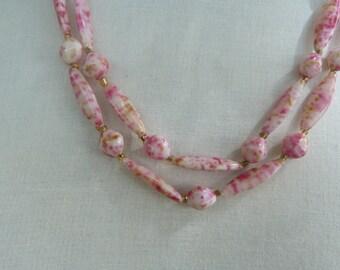 Pinkylicious. Boho Beads that are sweet pea fresh. Dainty and feminine, retro chic. Enjoy!
