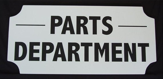 Items similar to parts department sign on etsy for The sign