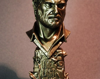 Custom Sculpted JOEL The Last of Us Faux Bronze Bust Figure Figurine | 6.30 inches | 16.0 cm