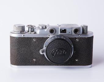 Vintage FED 1 camera, Leica copy, Rangefinder camera, USSR vintage film camera,   35mm camera, Fed one Antique Soviet.