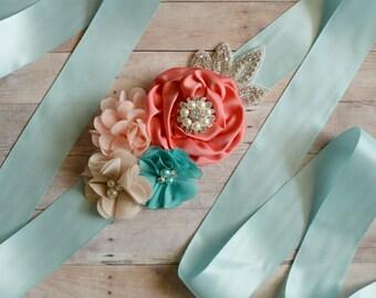 Wedding sash, Flower Girl Sash, Ribbon Sash, Bridal Sash, Wedding Shower Sash, Bridesmaid Sash, Wedding Sash, Bachelorette