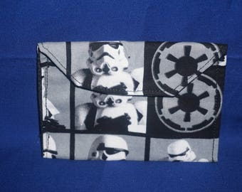 Star Wars Empire Stormtrooper Cotton Snap Button Wallet Coin Purse ID Holder