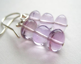 Stacked ... Lilac Amethyst and Sterling Silver Earrings