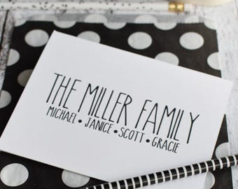 Personalized Family Note Cards - Personalized Family Stationery - Thank You Note - Family Card - RD Family Note - Personalized Family Notes