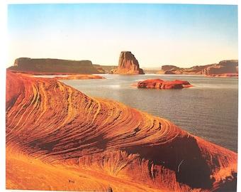 Vintage September 1982 Calendar Page, Gregory Butte, Lake Powell, Utah