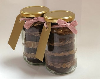 Luxury Vegan Gluten Free Cake Jar * Chocolate