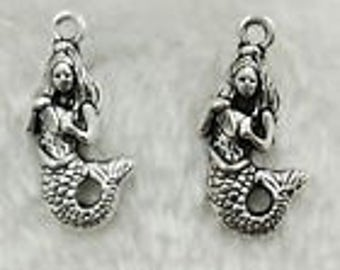 Silver Charms Mermaid w/shell x10