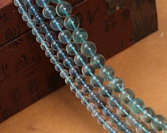 Blue Fluorite Beads, DIY Gourmet Blue Fluorite Beads Strands, 6 8 10mm Blue Geen Fluorite Beads Supplies, Fluorite Beads For Jewelry (B104)