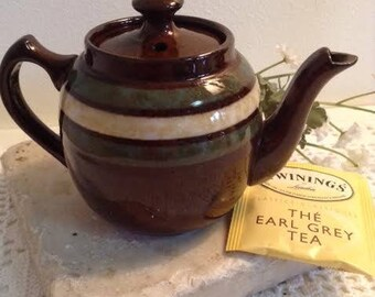 Sadler One Cup Brown Teapot - Brown Betty England