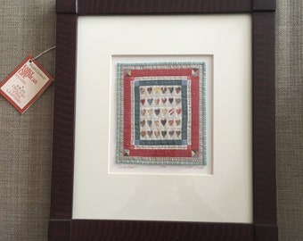 Vintage Kate Adams Framed Miniature Quilt