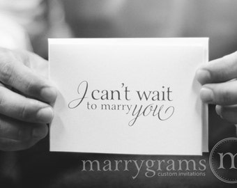 Wedding Card to Your Bride or Groom - I Can't Wait to Marry You - To my Groom on Our Wedding Day Notecard - Love Note Before I Do CS08