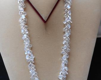 Hallmark Sterling Silver Sri Lankan Blue Moonstone Bunch Necklace (N20/7)