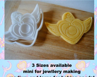 Sailor moon crisis moon compact cookie cutter jewellery mold Sailor Moon brooch 3D Biscuit Fondant Mold Sailor Moon 20th Anniversary