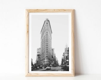 New York Print, NYC Photography, Black and White Photography, Flatiron, Contemporary Wall Art, Modern Minimal Art Print, Urban Art