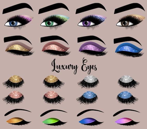 Luxury Eyes Clipart Princess Makeup Sparkle Clip Art Glitter