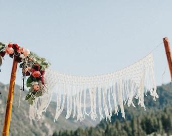 Rustic Wedding Backdrop for Altar Macrame Wedding Decorations Photo Backdrop Garland