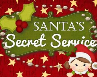 Santa's Secret Service for Kids - INSTANT DOWNLOAD