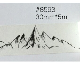 Mountain Washi Tape -- Japanese Washi Tape -Deco tape-- 30mm x5M