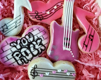 Valentine, You Rock! Cookie Gift Box