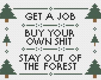 PDF MFM Get a Job Cross Stitch Downloadable Digital Pattern