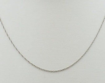 18k White Gold Disappearing Chain/Necklace 19 3/4'' Long