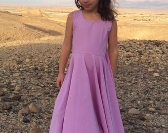 Girls Purple Dress, Girls Clothes,  girls lavender dress, Toddler PurplevDress, Girls Maxi Dress, Girls Long Dress, Girls Lilac Dress.