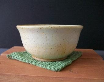 Cream White, Ceramic Cereal Bowl- Ready to Ship!
