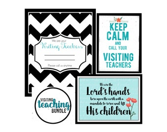 LDS Visiting Teaching Bundle- 5x7 and 4x6- Instant digital download