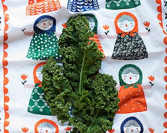 "Matryona Tea Towel 100% cotton, 20""x30"", comes in a gift packaging with a complimentary recipe card"