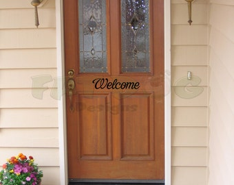 Welcome Door Entryway Decal Many Styles Available, Welcome Sign, Entry Sign, Front Door Decals Welcome Decal for Door or Entryway Decor