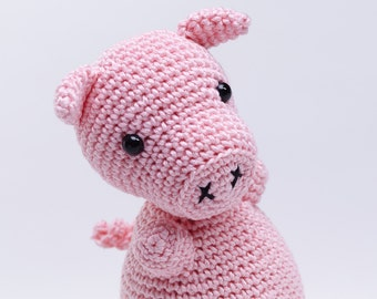 Pig Stuffed Animal, Pig Amigurumi, Pig Crochet Toy, Pig Plush, Pig Plushie, Cute Pig, Kawaii Pig, Pig Toy, Pink Pig Amigurumi