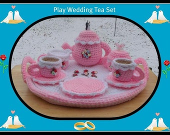 Play  Wedding Tea Set Crochet Pattern