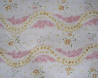 Tracy Porter Cotton Fabric Floral Waves