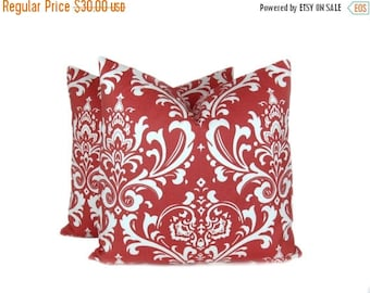 15% Off Sale Coral Pillow Covers Damask Pillow Decorative pillows for couch  Coral Pillow Covers Pillow sets Pillows - Accent Pillow - Throw