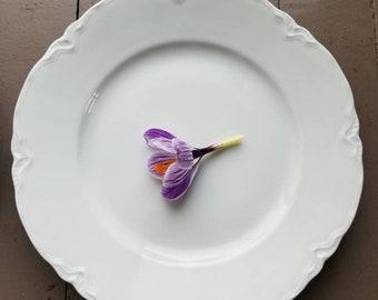 Vintage Hutschenreuther Racine All White Dinner Plates set of 2