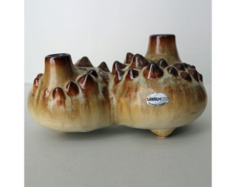 Einar Johansen, Soholm, Denmark. Stoneware Double Vase/Sculpture