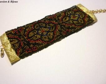 Passementerie beaded bracelet