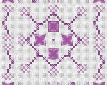 Purple Biscornu