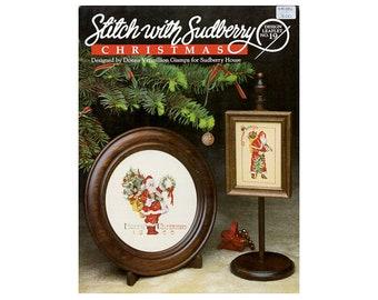Santas Cross Stitch Leaflet, Santa Cross Stitch Pamphlet, Vintage Cross Stitch, Craft Books, Santas, Sudberry, by NewYorkTreasures on Etsy