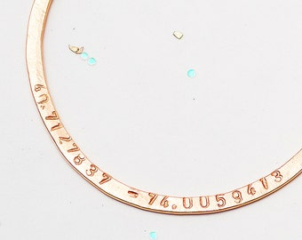 Custom Hoop Coordinates Necklace