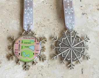 Central Park  Snowflake Ornament  New York Handcrafted for Holiday or Housewarming Gift for Travelers  Tree Trimmer