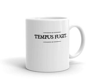 Tempus Fugit Time Flies Latin Saying Mug