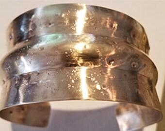 Hammered Bronze cuff