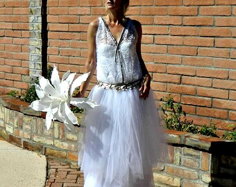 20s Wedding Dress-30s Wedding Dress-40s Wedding Dress-Wedding Separates Goldie Couture-Hand Sewn Herringbone Jeweled Lace Deep V Rose Top