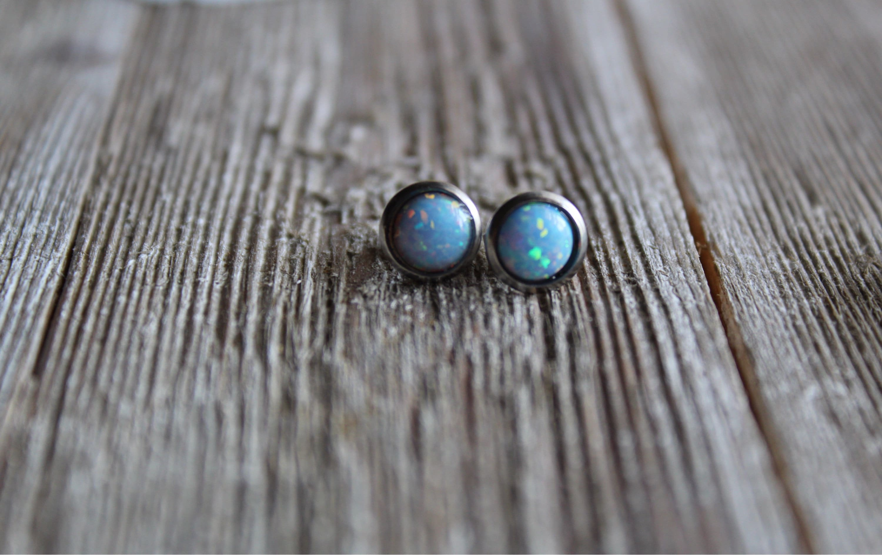 listing il natural silver genuine earrings fire stud classic fullxfull opal rainbow blue studs