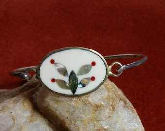 Inlaid Shell Butterfly Bracelet
