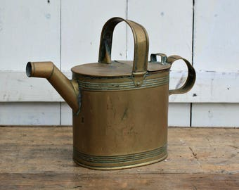 Antique / Copper / Watering Can / English / Can / Watering / Antique watering can / Cottage Garden / gardener gift / housewarming gift.