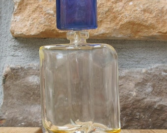 Vintage Glass perfume bottle with stopper-free shipping
